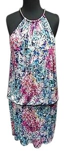 Jessica Simpson Poly Blend Sleeveless Blouson 2744a Dress