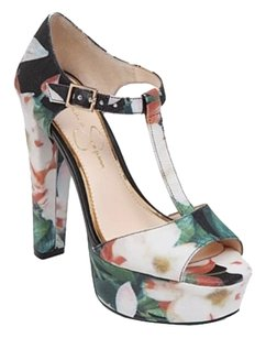 Jessica Simpson Floral Black multicolor Platforms