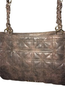 Jessica Simpson Tote in Brown/Suede/White