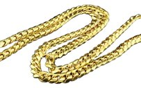 10k Solid Heavy 11.37mm Yellow Gold Miami Cuban Link Chain Necklace Inch 309g