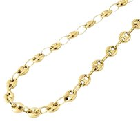 Other 10k Yellow Gold 6.5mm Wide Puffed Gucci Mariner Link Chain Necklace 26-30 Inches