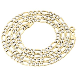 Jewelry For Less 110th 10k Yellow Gold Diamond Cut Figaro Link Chain Necklace 6mm 18-30 Inches