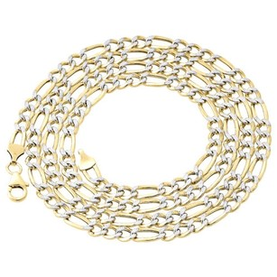 Jewelry For Less 110th 10k Yellow Gold Diamond Cut Figaro Link Chain Necklace Mm 18-30 Inches