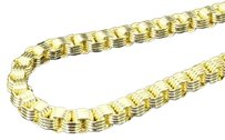 10k,Semi,Hollow,Link,Yellow,Gold,Venetian,Rolo,4mm,Chain,26,Inch,Necklace