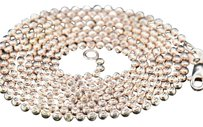 Mens,2mm,10k,Rose,Gold,Beaded,Moon,Cut,Ball,Chain,Diamond,Cut,Design,28,Inch