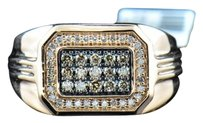 Mens,14k,Pink,Rose,Gold,Brown,White,Diamond,Pave,Designer,Pinky,Ring,.50,Ct.