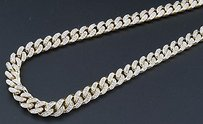 Jewelry For Less Genuine Diamond Miami Cuban Chain Ct. 10k Yellow Gold 6.25mm Inch Necklace