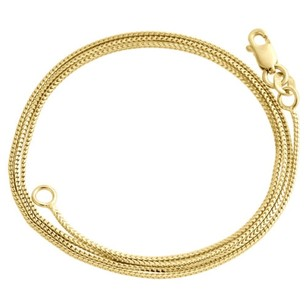 10k Yellow Gold Solid Franco Box Chain Closed Link 0.75mm Necklace - Inch