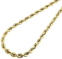 Jewelry For Less Mens Ladies 110th 10k Yellow Gold 5.50mm Hollow Rope Chain 18-30 Inch Necklace