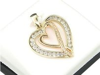 Ladies,10k,Yellow,Gold,Love,Heart,Diamond,Pendant,Charm,For,Necklace,.12,Ct.
