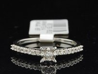 Solitaire Round Diamond White Gold Engagement Wedding Promise Ring 0.24 Ct.