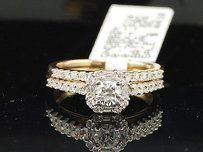 Diamond Solitaire Engagement Ring Ladies 14k Yellow Gold Round Bridal Set 34 Ct