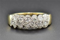 Diamond Wedding Band 14k Yellow Gold Round Cut Ladies Designer Ring 0.81 Ct