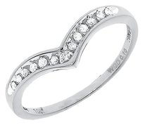 Jewelry Unlimited 10k,White,Gold,Round,Channel,Diamond,Chevron,Wedding,Engagement,Enhancer,Band