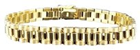 Jewelry Unlimited ,Mens,Solid,10k,Yellow,Gold,Polished,Matte,Finish,Jubilee,Style,Bracelet,8.5