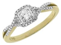 Jewelry Unlimited 10k,Yellow,Gold,Ladies,Round,Solitaire,Diamond,Engagement,Wedding,Ring,0.32,Ct