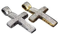 Jewelry Unlimited Genuine,Diamond,Mini,Cross,Pendant,In,Yellow,Or,White,Gold,Finish,0.75ct,1.5