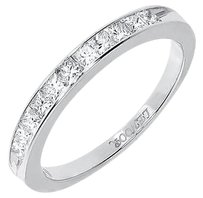 Jewelry Unlimited 14k,White,Gold,Womens,Princess,Diamond,3mm,Wedding,Engagement,Band,Ring,0.52ct