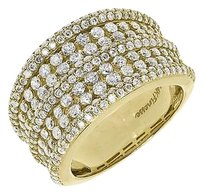 Jewelry Unlimited 14k,Yellow,Gold,Round,Diamond,13mm,Fashion,Cocktail,Anniversary,Band,Ring,2.23ct