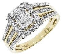 Jewelry Unlimited 14k,Yellow,Gold,Ladies,Emerald,Solitaire,Look,Diamond,Engagement,Ring,0.97,Ct