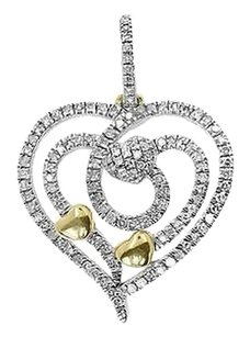 Jewelry Unlimited 14k,Yellow,Gold,Ladies,Round,Diamond,Heart,Mini,Pendant,Charm,0.50,Ct