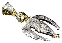 Jewelry Unlimited Genuine,Diamond,Ascending,Angel,1.25,Pendant,Charm,In,Yellow,Gold,Finish,0.35ct