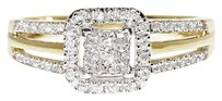 Jewelry Unlimited 10k,Yellow,Gold,Ladies,Princess,Round,Diamond,Engagement,Wedding,Ring,0.35,Ct