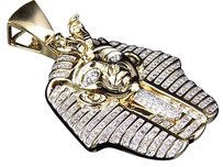 Jewelry Unlimited Yellow,Gold,Finish,Genuine,Diamond,Egyptian,Pharaoh,King,Tut,1.6,Pendant,1.35ct