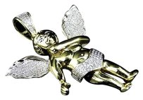 Jewelry Unlimited ,Solid,10k,Yellow,Gold,Diamond,3d,Dancing,Angel,Pendant,Charm,.87ct,2.25,Inch