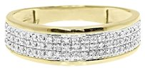 Jewelry Unlimited 10k,Yellow,Gold,Mens,6.5mm,Pave,Diamond,Eternity,Fashion,Wedding,Band,Ring,0.33,