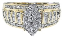 Jewelry Unlimited Ladies,10k,Yellow,Gold,Marquise,Style,Diamond,Bridal,Wedding,Engagement,Ring,1ct