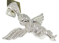 Jewelry Unlimited Mens,10k,White,Gold,Micro,Angel,Jesus,Diamond,Piece,Pendant,Charm,2.5,Ct