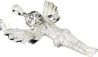Jewelry Unlimited Mens,Ladies,White,Gold,Mini,Angel,Cherub,Jesus,2,Inch,Diamond,Pendant,2.6,Ct