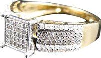 Jewelry Unlimited Ladies,10k,Yellow,Gold,Round,Cut,Pave,Set,Diamond,Fashion,Engagement,Ring,12,Ct