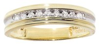 Jewelry Unlimited 10k,Yellow,Gold,Mens,Round,Genuine,Channel,Diamond,5.5mm,Wedding,Band,Ring,18ct
