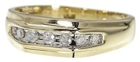 Jewelry Unlimited 10k,Mens,Yellow,Gold,Round,Diamond,7mm,Wedding,Band,Ring,0.25ct