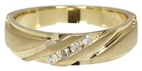 Jewelry Unlimited 10k,Yellow,Gold,Mens,Round,Diamond,Comfort,Fit,Wedding,Band,Ring