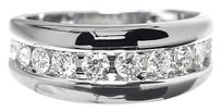 Jewelry Unlimited 14k,White,Gold,Mens,Round,Diamond,Channel,Set,Wedding,Comfort,Fit,Band,Ring,9mm