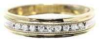 Jewelry Unlimited 14k,Gold,Mens,Two,Tone,Round,Diamond,5mm,Wedding,Band,Ring,0.25ct
