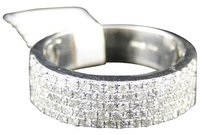 Jewelry Unlimited White,Gold,Finish,Genuine,Diamond,Pave,Wedding,Engagement,Band,Ring,1.0,Ct