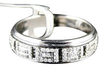 Jewelry Unlimited 14k,Mens,Womens,White,Gold,Diamond,Wedding,Eternity,Spinning,Round,Band,Ring