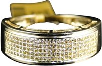 Jewelry Unlimited 10k,Yellow,Gold,Mens,Ladies,Canary,Diamond,7.5,Mm,Wedding,Band,Ring,12,Ct