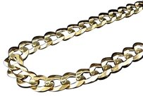 Jewelry Unlimited Mens,Solid,10k,Yellow,Gold,11.5,Mm,Cuban,Curb,Link,Chain,Necklace,20-30,Inches