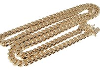 Jewelry Unlimited 14k,Rose,Gold,Heavy,Solid,Franco,9.5,Mm,28,Inch,Miami,Cuban,Necklace,192.2,Grams