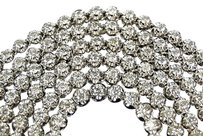 Jewelry Unlimited Mens,1,Row,Prong,Set,Real,4.5,Mm,Diamond,Chain,Solitaire,Necklace,12,Ct,34,Inch