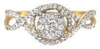 Jewelry Unlimited 14k,Yellow,Gold,Ladies,Round,Diamond,Cluster,Solitaire,Engagement,Wedding,Ring