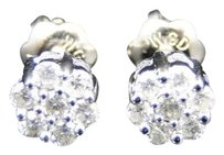 Jewelry Unlimited 14k,Mens,Ladies,5mm,White,Gold,Round,Diamond,Cluster,Flower,Studs,Earrings,.25ct