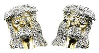 Jewelry Unlimited Genuine Diamond Sterling Silver Angel Stud Earrings In Yellow Gold Finish .20ct