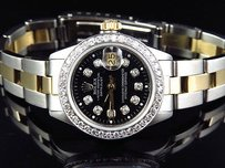 Jewelry Unlimited Ladies Tone Rolex Datejust Oyster Band Mm Diamond Watch 18ksteel Band