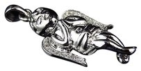 Jewelry Unlimited 10k,White,Gold,Genuine,Diamond,3d,Baby,Angel,Cherub,Pendant,Charm,0.20ct,1.25